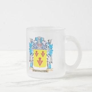 Escudo de armas de Partington - escudo de la Taza Cristal Mate