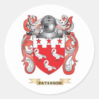 Escudo de armas de Paterson (escudo de la familia) Etiqueta Redonda
