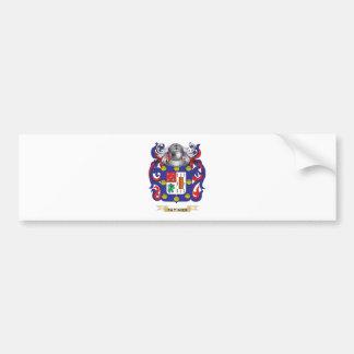 Escudo de armas de Patino (escudo de la familia) Pegatina De Parachoque