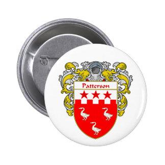 Escudo de armas de Patterson (cubierto) Pin Redondo De 2 Pulgadas