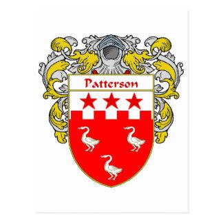 Escudo de armas de Patterson (cubierto) Tarjetas Postales