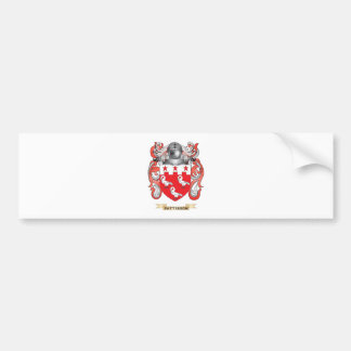 Escudo de armas de Patterson escudo de la familia Pegatina De Parachoque