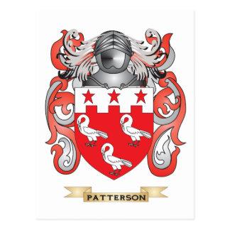 Escudo de armas de Patterson (escudo de la familia Tarjeta Postal