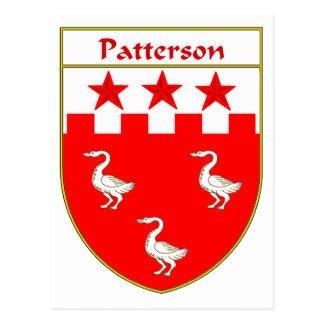 Escudo de armas de Patterson/escudo de la familia Tarjeta Postal