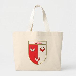 Escudo de armas de Patton/escudo de la familia Bolsa Tela Grande