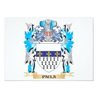 """Escudo de armas de Paula - escudo de la familia Invitación 5"""" X 7"""""""