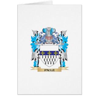 Escudo de armas de Paule - escudo de la familia Tarjeta De Felicitación