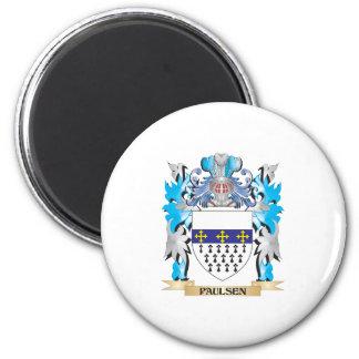 Escudo de armas de Paulsen - escudo de la familia Imanes Para Frigoríficos