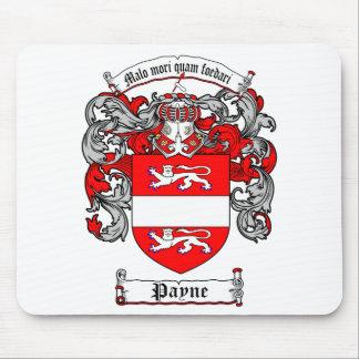 Escudo de armas de Payne - cojín de ratón Alfombrillas De Raton