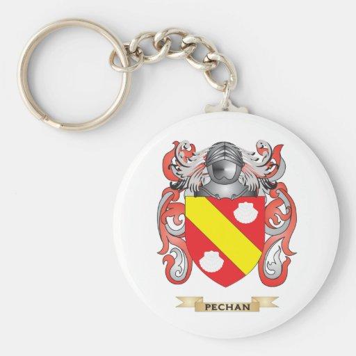 Escudo de armas de Pechan (escudo de la familia) Llavero Redondo Tipo Pin