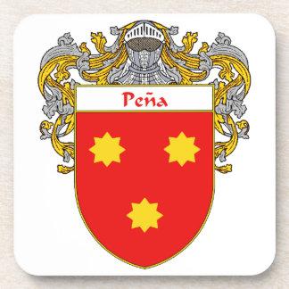 Escudo de armas de Pena/escudo de la familia Posavasos