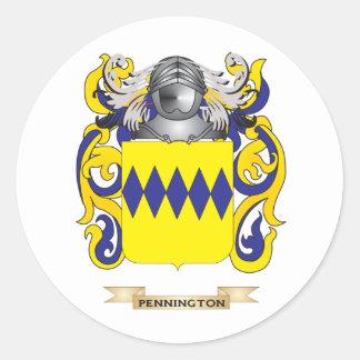 Escudo de armas de Pennington (escudo de la Pegatina Redonda