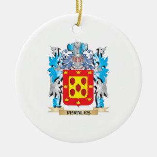 Escudo de armas de Perales - escudo de la familia Adorno Redondo De Cerámica