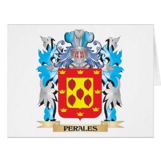 Escudo de armas de Perales - escudo de la familia Tarjeta De Felicitación Grande