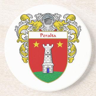 Escudo de armas de Peralta/escudo de la familia Posavasos Cerveza
