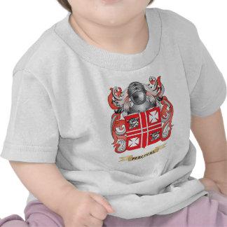 Escudo de armas de Percival (escudo de la familia) Camiseta