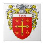Escudo de armas de Pérez/escudo de la familia Teja Cerámica