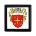 Escudo de armas de Pérez/escudo de la familia Caja De Regalo