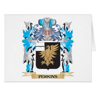 Escudo de armas de Perkins - escudo de la familia Tarjeta De Felicitación Grande
