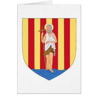 Escudo de armas de Perpignan Tarjeta Pequeña