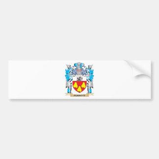 Escudo de armas de Perrott - escudo de la familia Etiqueta De Parachoque