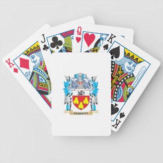 Escudo de armas de Perrott - escudo de la familia Baraja Cartas De Poker
