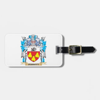 Escudo de armas de Perrott - escudo de la familia Etiquetas Bolsa