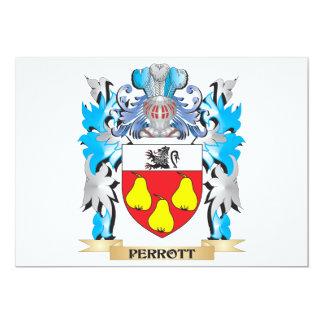 Escudo de armas de Perrott - escudo de la familia Invitacion Personal