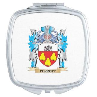 Escudo de armas de Perrott - escudo de la familia Espejos Compactos