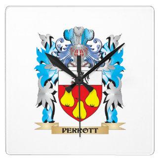 Escudo de armas de Perrott - escudo de la familia Relojes