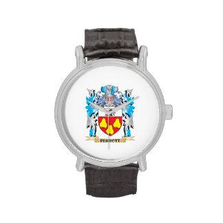 Escudo de armas de Perrott - escudo de la familia Reloj