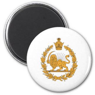 Escudo de armas de Persia Imán Redondo 5 Cm