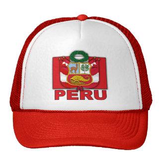 Escudo de armas de Perú Gorras De Camionero