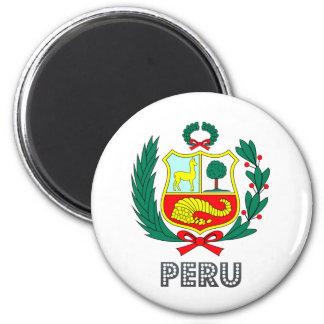Escudo de armas de Perú Imán Redondo 5 Cm