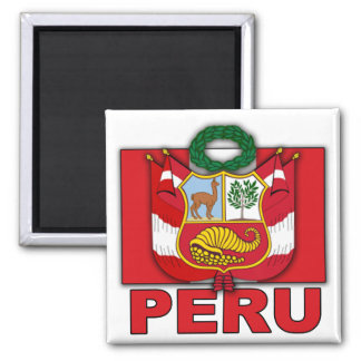 Escudo de armas de Perú Imán Cuadrado