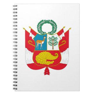 Escudo de armas de Perú Libro De Apuntes Con Espiral