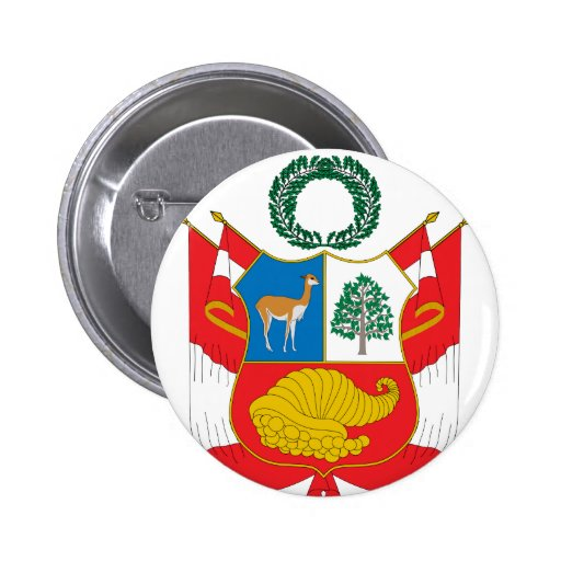 Escudo de armas de Perú Pins