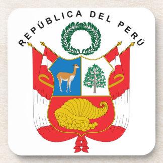 Escudo de armas de Perú Posavasos De Bebidas
