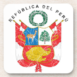 Escudo de armas de Perú Posavasos