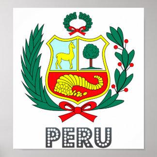 Escudo de armas de Perú Póster