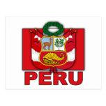 Escudo de armas de Perú Tarjeta Postal