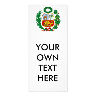 Escudo de armas de Perú Tarjeta Publicitaria Personalizada