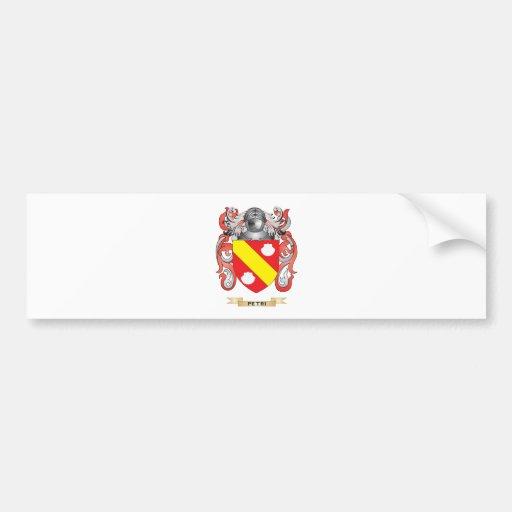 Escudo de armas de Petri (escudo de la familia) Etiqueta De Parachoque