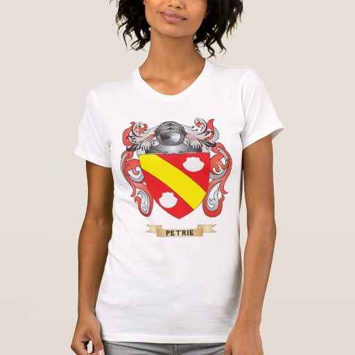 Escudo de armas de Petrie (escudo de la familia) Camiseta