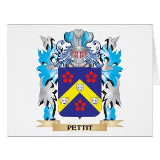 Escudo de armas de Pettit - escudo de la familia Tarjeta De Felicitación Grande