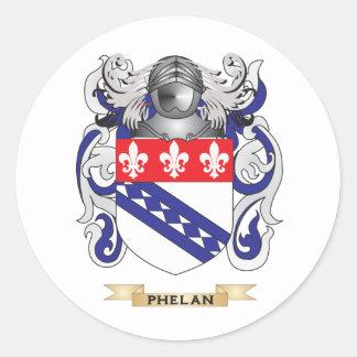 Escudo de armas de Phelan (escudo de la familia) Pegatina Redonda