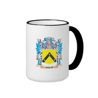 Escudo de armas de Philip - escudo de la familia Taza De Dos Colores
