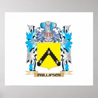Escudo de armas de Phillipson - escudo de la Póster