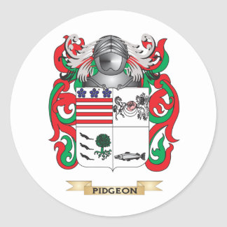 Escudo de armas de Pidgeon (escudo de la familia) Etiqueta Redonda