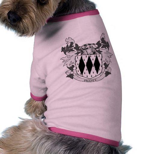 Escudo de armas de PIGOTT Ropa De Mascota